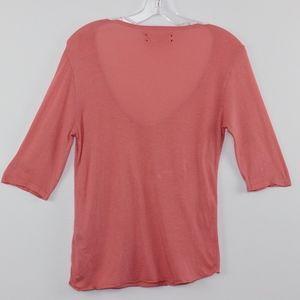 TEXTILE Elizabeth and James Tops - TEXTILE Elizabeth and James Melon T Shirt Tee S
